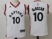 Youth Nba Toronto Raptors #10 Demar Derozan White Jersey