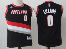 Youth Nba Portland Trail Blazers #0 Damian Lillard Black Jersey