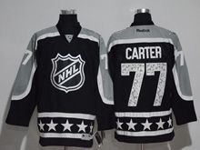 Mens Reebok Los Angeles Kings #77 Jeff Carter Black 2017 All Star Hockey Jersey
