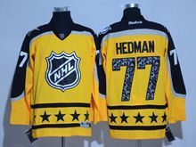 Mens Reebok Tampa Bay Lightning #77 Victor Hedman Yellow 2017 All Star Hockey Jersey