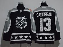Mens Reebok Calgary Flames #13 Johnny Gaudreau Black 2017 All Star Hockey Jersey