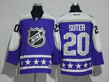 Mens Reebok Minnesota Wild #20 Ryan Suter Purple 2017 All Star Hockey Jersey