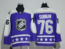 Mens Reebok Nashville Predators #76 P.k. Subban Purple 2017 All Star Hockey Jersey