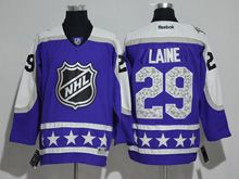 Mens Reebok Winnipeg Jets #29 Patrik Laine Purple 2017 All Star Hockey Jersey