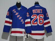 Youth Reebok New York Rangers #26 Jimmy Vesey Royal Blue Jersey