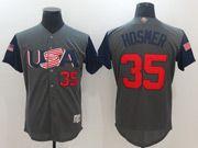 Mens Mlb Usa Team 2017 Baseball World Cup #35 Hosmer Grey Jersey