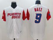 Mens Mlb Puerto Rico Team 2017 Baseball World Cup #9 Baez White Jersey