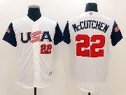 Mens Mlb Usa Team 2017 Baseball World Cup #22 Mccutchen White  Jersey