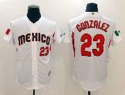 Mens Mlb Mexico Team 2017 Baseball World Cup #23 Gonzalez White Jersey