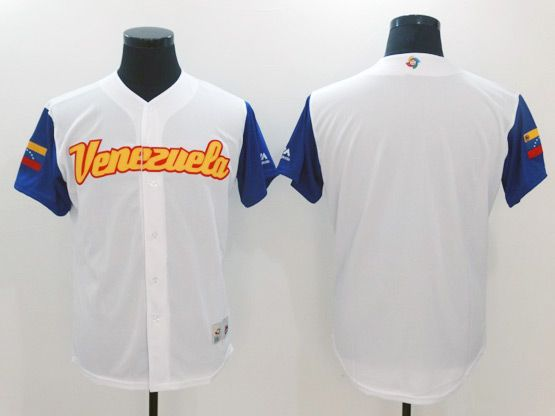 Mens Mlb Venezuela Team 2017 Baseball World Cup White Blank Jersey