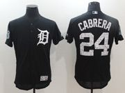 Mens Mlb Detroit Tigers #24 Miguel Cabrera Blue 2017 Spring Training Flex Base Jersey