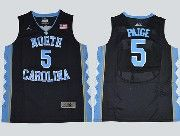 Mens Ncaa Nba North Carolina #5 Paige Black Jersey