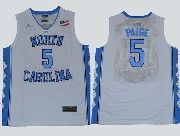 Mens Ncaa Nba North Carolina #5 Paige White Jersey