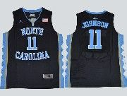 Mens Ncaa Nba North Carolina #11 Johnson Black Jersey