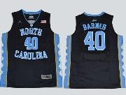 Mens Ncaa Nba North Carolina #40 Barnes Black Jersey