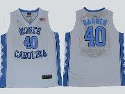 Mens Ncaa Nba North Carolina #40 Barnes White Jersey