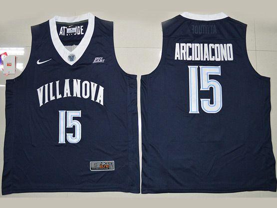 Mens Ncaa Nba Villanova Wildcats #15 Ryan Arcidiacono Navy Blue Jersey