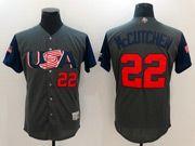 Mens Mlb Usa Team 2017 Baseball World Cup #22 Mccutchen Grey Jersey