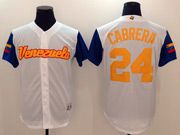 Mens Mlb Venezuela Team 2017 Baseball World Cup #24 Cabrera White Jersey