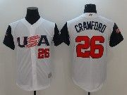 Mens Mlb Usa Team 2017 Baseball World Cup #26 Crawford White Jersey
