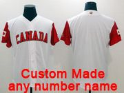 Mens Mlb Canada Team 2017 Baseball World Cup Custom Made White Jersey