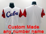 Mens Mlb Cuca Team 2017 Baseball World Cup Custom Made White Jersey