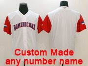 Mens Mlb Dominicana Team 2017 Baseball World Cup Custom Made White Jersey