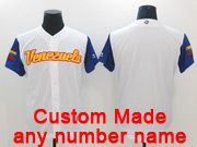 Mens Mlb Venezuela Team 2017 Baseball World Cup Custom Made White Jersey