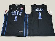 Mens Ncaa Nba Duke Blue Devils #1 Harry Giles Black V Neck College Basketball Jersey