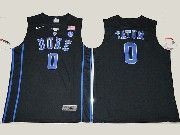 Mens Ncaa Nba Duke Blue Devils #0 Jayson Tatum Black V Neck College Basketball Jersey