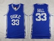 Mens Ncaa Nba Duke Blue Devils #33 Grant Hill Blue College Basketball Jerseys