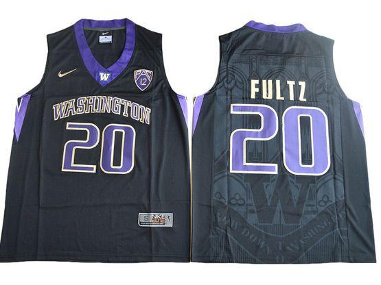 Mens Ncaa Nfl Washington Huskies #20 Markelle Fultz Black College Basketball Jersey