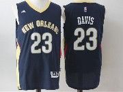 Mens Nba New Orleans Pelicans #23 Anthony Davis Dark Blue Basketball Jerseys