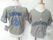 Kids Mlb Toronto Blue Jays  #6 Marcus Stroman Grey Jersey