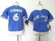 Kids Mlb Toronto Blue Jays  #6 Marcus Stroman Blue Jersey