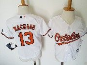Kids Mlb Majestic Baltimore Orioles #13 Manny Machado White Jersey
