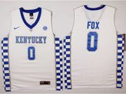 Mens Ncaa Nba Kentucky Wildcats #0 De'aaron Fox White College Basketball Jersey