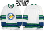Nhl California Golden Seals Custom Made White Throwbacks Vintage Jersey