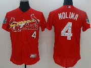 Mens Mlb St.louis Cardinals #4 Yadier Molina Red 2017 Spring Training Felx Base Jersey