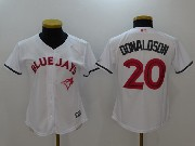 Mens Mlb Toronto Blue Jays #20 Donaldson White Mother's Day Flex Base Jersey