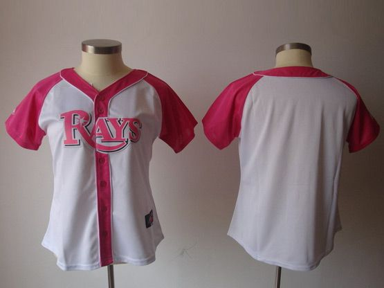 Women Mlb Tampa Bay Rays Blank Pink Splash Fashion Jersey