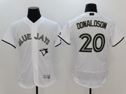 Mens Majestic Toronto Blue Jays #20 Josh Donaldson White 2017 Memorial Day Flex Base Jersey