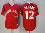 Mens Mlb Toronto Blue Jays #12 Roberto Alomar Red Cool Base Jersey