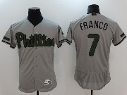 Mens Majestic Philadelphia Phillies #7 Maikel Franco Grey 2017 Memorial Day Flex Base Jersey