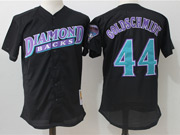 Mens Mlb Arizona Diamondbacks #44 Paul Goldschmidt Black Pullover Throwback Mesh Jersey