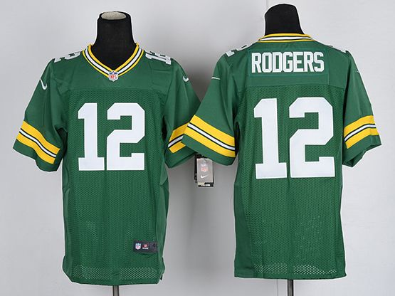 Mens Nfl Green Bay Packers #12 Aaron Rodgers Green Elite Jersey
