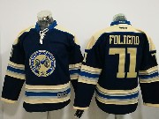 Youth Reebok Nhl Columbus Blue Jackets #71 Nick Foligno Blue Alternate Premier Jersey