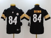 Youth Nfl Pittsburgh Steelers #84 Antonio Brown Black Vapor Untouchable Limited Jersey