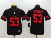Youth Nfl San Francisco 49ers #53 Navorro Bowman Black Vapor Untouchable Limited Jersey