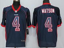 ae4b1848b Mens Houston Texans #4 Deshaun Watson Blue Drift Fashion Elite Jersey